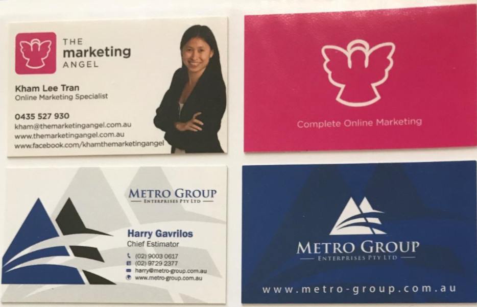 BUSINESS CARDS DESIGN & PRINT - design1