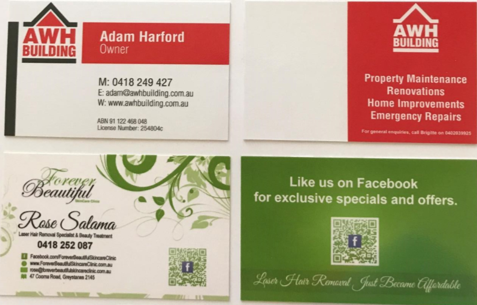 BUSINESS CARDS DESIGN & PRINT - design2