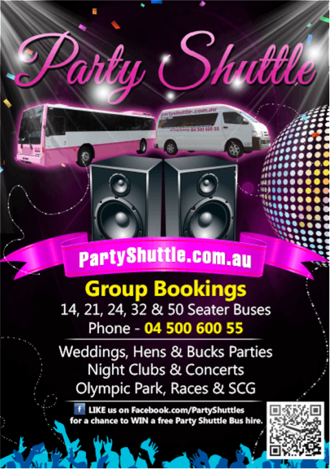 FLYERS DESIGN & PRINT -partyshuttle